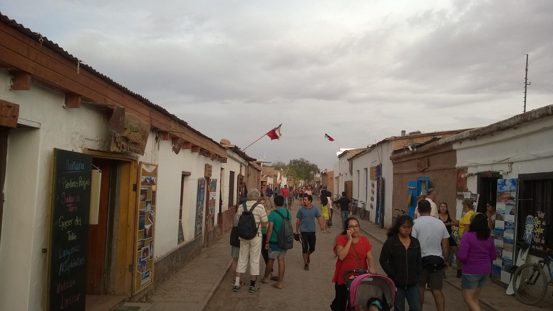 Haupt-Flaniermeile in San Pedro de Atacama