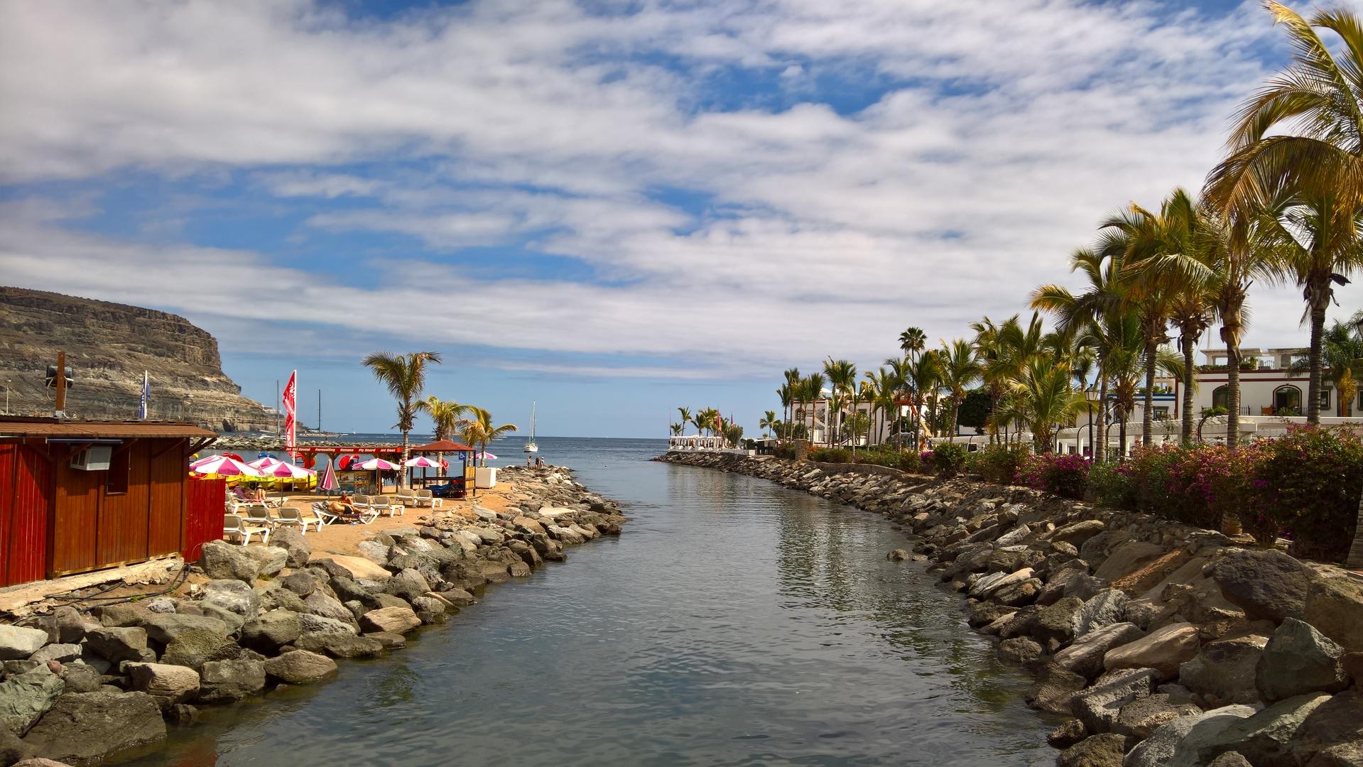 Puerto de Morgan - Blick zum Meer